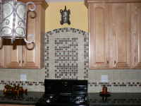 kitchen picture, kitchen cabinets, stove, cooker, hood, worktop