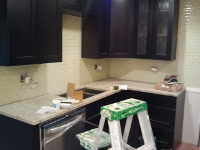 kitchen  during remodeling